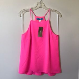 🚨NWT🚨 Francesca's buttons Pink Chiffon Top - S